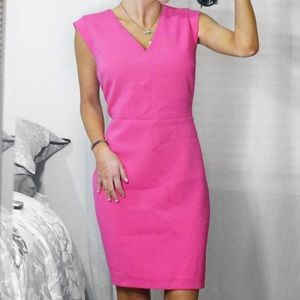 Banana Republic Pink V-Neck Sheath Dress Size 10
